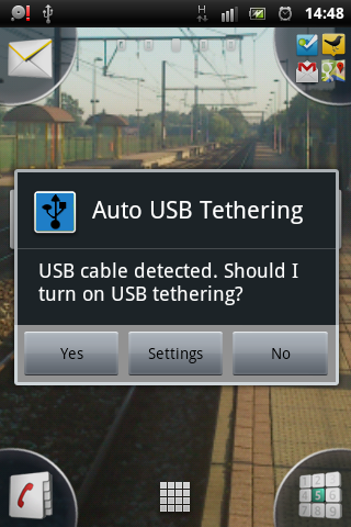 Screenshot Auto USB Tethering