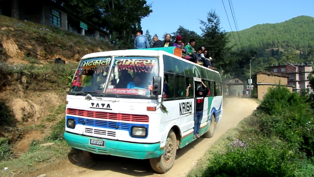 Nepal still low on fuel… So I'll go by bus(57/100)
